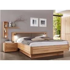 Двуспальная деревянная кровать с мягким изголовьем ГАЛАТЕЯ ТМ ТеМП