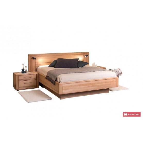 Двуспальная деревянная кровать НИКОЛЕТТА ТМ ТеМП (древесина бука)
