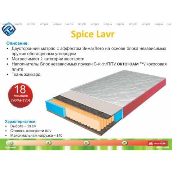 Ортопедический матрас LAVR ТМ Spice