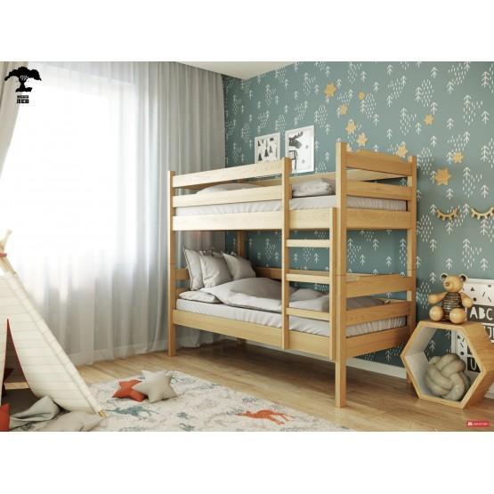 Детская двухъярусная кровать из дерева МИЛЕНА ТМ Лев