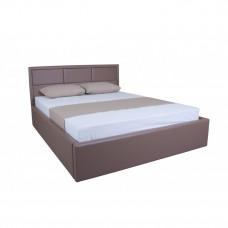 Кровать АГАТА МЕЛБИ двуспальная, в мягкой обивке ★ размерный ряд - от 140х190 см ★ подъемный механизм (опционально)