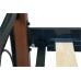 Кровать ЭМИЛИ МЕЛБИ двуспальная ★ от 140х190 до 180х200 ★ с кованым изголовьем на деревянных ножках + ортопедический каркас № 8