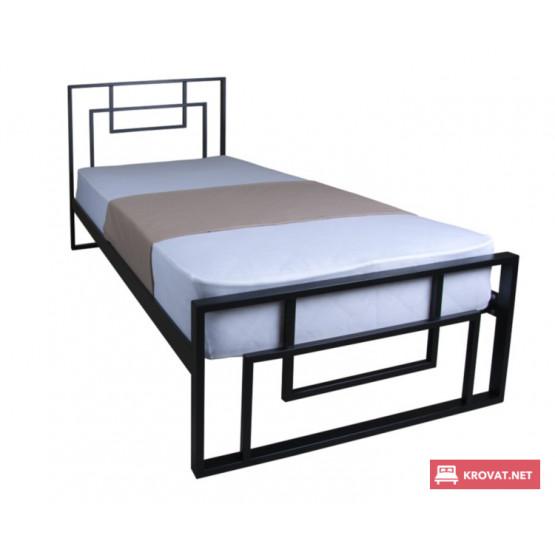 Кровать АСТРА МЕЛБИ односпальная ★80х190 - 90х200 см★ металлическая кровать в стиле Лофт из железа