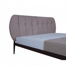 Двуспальная || полуторная кровать БЬЯНКА 01 МЕЛБИ ★ от 120х190 ★ кровать из металла с мягкими изголовьем овальной формы и ортопедическим основанием под матрас