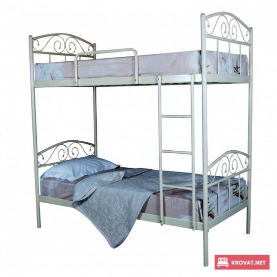 Двухъярусная кровать ЭЛИС ЛЮКС МЕЛБИ ★80х190 - 90х200 см★ детская металлическая кровать с лестницей