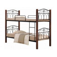Двухъярусная кровать ЭЛИЗАБЕТ МЕЛБИ ★90х190 или 90х200 см★ детская кованая кровать из металла с лестницей