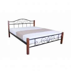Металлическая кровать Лара люкс вуд