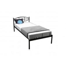 Кровать ЛАУРА МЕЛБИ односпальная ★80х190 - 90х200 см★ металлическая кровать с кованым изголовьем