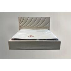 Кровать с мягким изголовьем ЛАУРЕЛЬ тм NBB и подъемным механизмом (обита тканью)