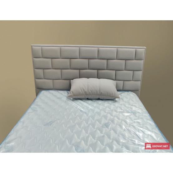 Кровать ЛИТТОРИО тм NBB в мягкой обивке, оснащена подъемным механизмом