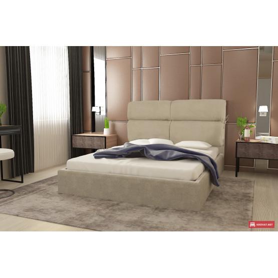 Подъемная кровать МЕРИ-РОУЗ тм NBB в мягкой обивке (система подъема - газ-лифт)