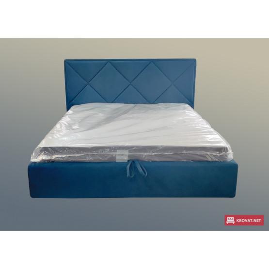 Кровать с мягким изголовьем ПАЛЛАДА тм NBB и подъемным механизмом (обита тканью)